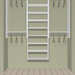 "72"" closet cost  approx.  $490 installed cost for KIT  approx.   $390. + tax"