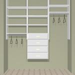 "72"" closet cost  approx.  $490 installed cost for KIT  approx.   $390. + tax Drawers are an additional $100. each"