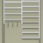 "60"" Closet Cost approx. $410. installed Cost as KIT  approx. $328 +tax"