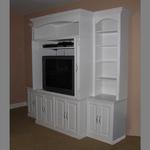 Custom Entertainment Center Painted Wood